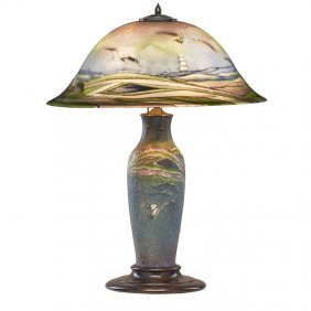 Pairpoint Table Lamp With Seagulls