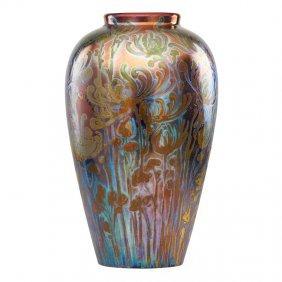 Jacques Sicard; Weller Fine Floor Vase