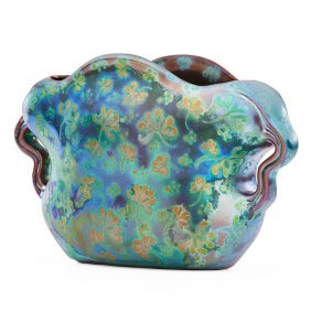 Jacques Sicard; Weller Two-handled Vase