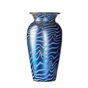 Durand Blue King Tut Vase