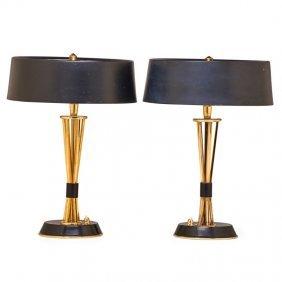 Oscar Torlasco; Lumi Pair Of Table Lamps