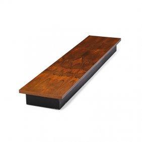 Milo Baughman; Thayer Coggin Low Table/bench