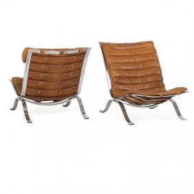 Arne Norell; Aneby Pair Of Lounge Chairs