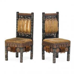 Carlo Bugatti Pair Of Chairs