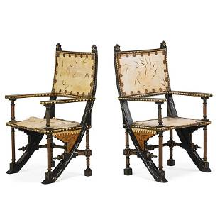 CARLO BUGATTI Pair of armchairs