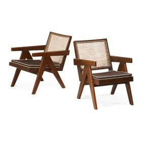Pierre Jeanneret Pair Of Chandigarh Lounge Chairs