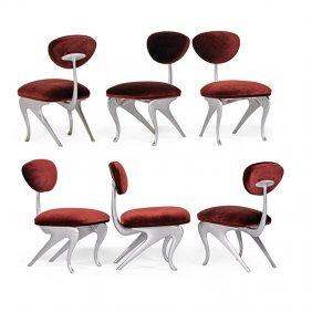 Jordan Mozer Six Hudson Club Dining Chairs