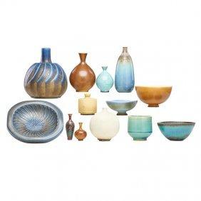 Friberg; Gustavsberg; Kage Thirteen Vessels/bowls
