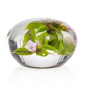 Paul Stankard Botanical Paperweight