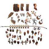 COLLECTION OF REBAJE OR RENOIR COPPER JEWELRY