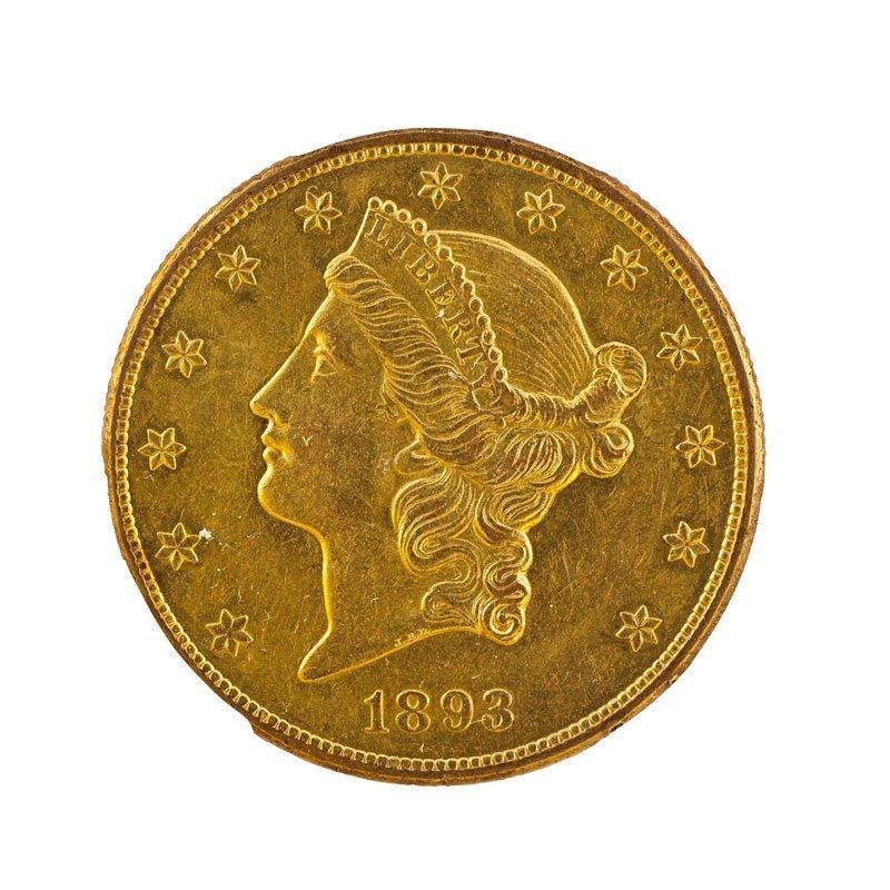 1893-CC $20.00 GOLD COIN