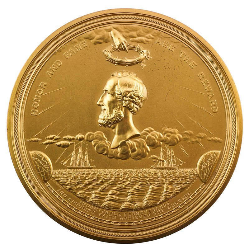 TRANSCONTINENTAL TELEGRAPH CABLE MEDAL