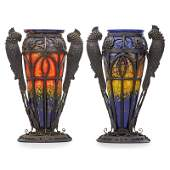 DAUM MAJORELLE Two large vases