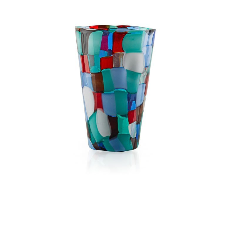 FULVIO BIANCONI; VENINI Pezzato Arlecchino vase
