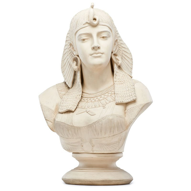 ISAAC BROOME; LENOX Important Cleopatra bust