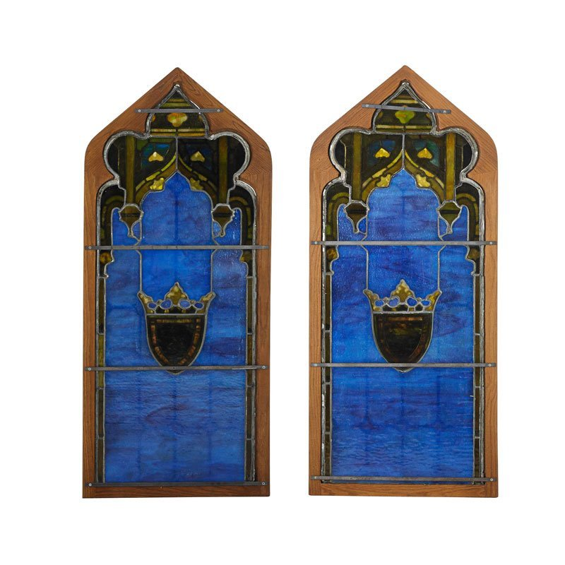 TIFFANY STUDIOS Pair of windows - 2