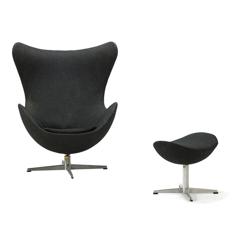 ARNE JACOBSEN Early Egg chair and ottoman - 2