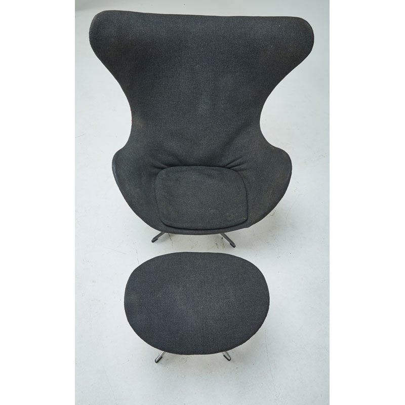 ARNE JACOBSEN Early Egg chair and ottoman - 4