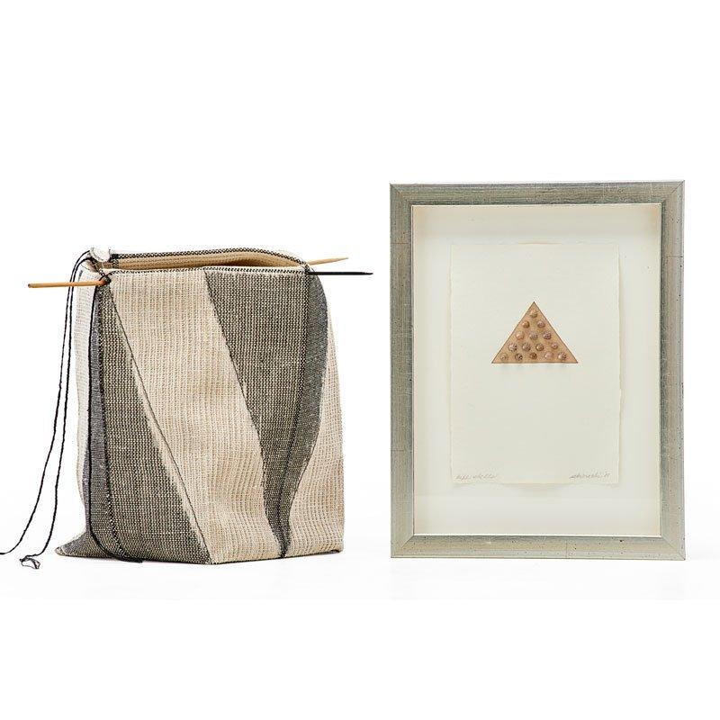 KAY SEKIMACHI Fiber basket and small print - 2