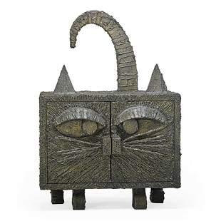 PAUL EVANS Rare cat cabinet