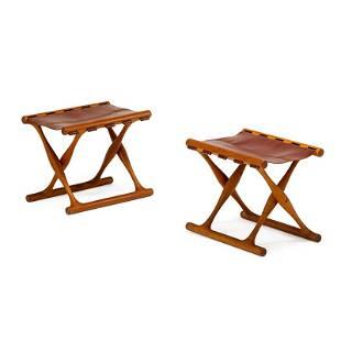 POUL HUNDEVAD Pair of stools