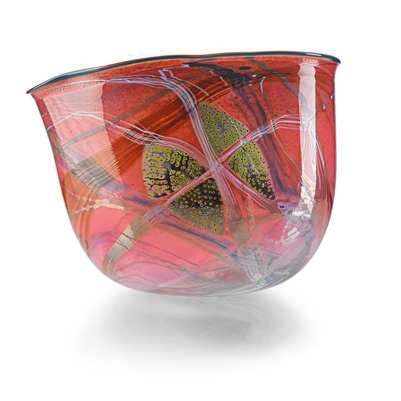 DALE CHIHULY Large Carmine Basket