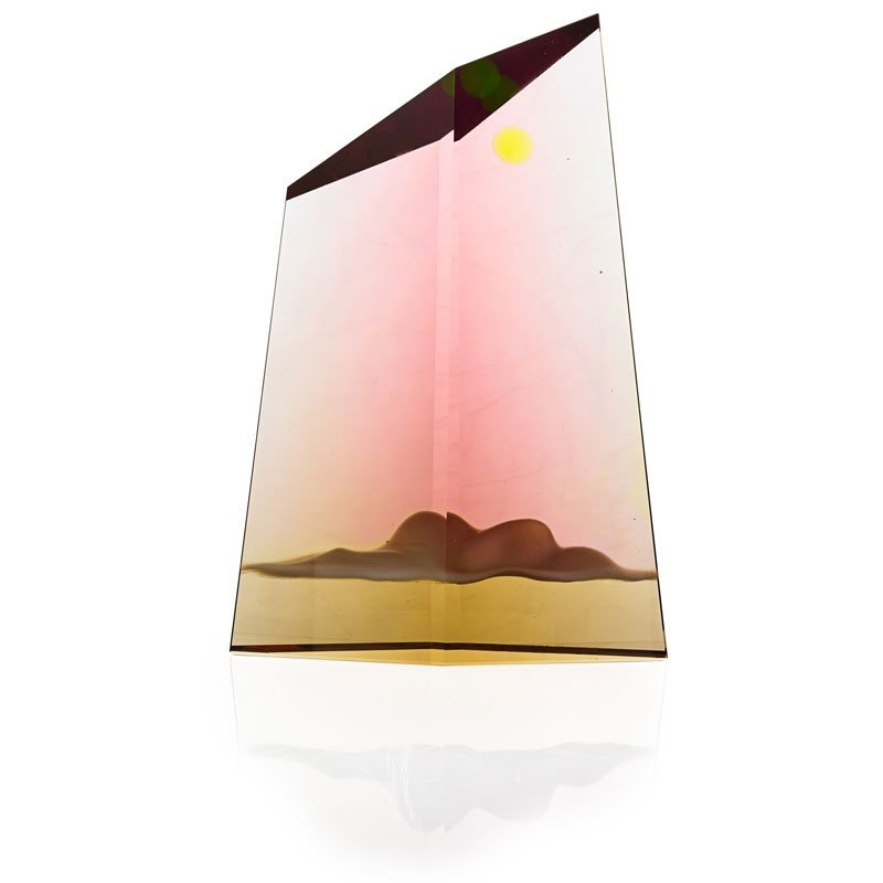 MARK PEISER Large glass sculpture