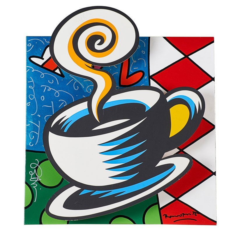 Romero Britto (Brazilian, b. 1963) and Burton Morris