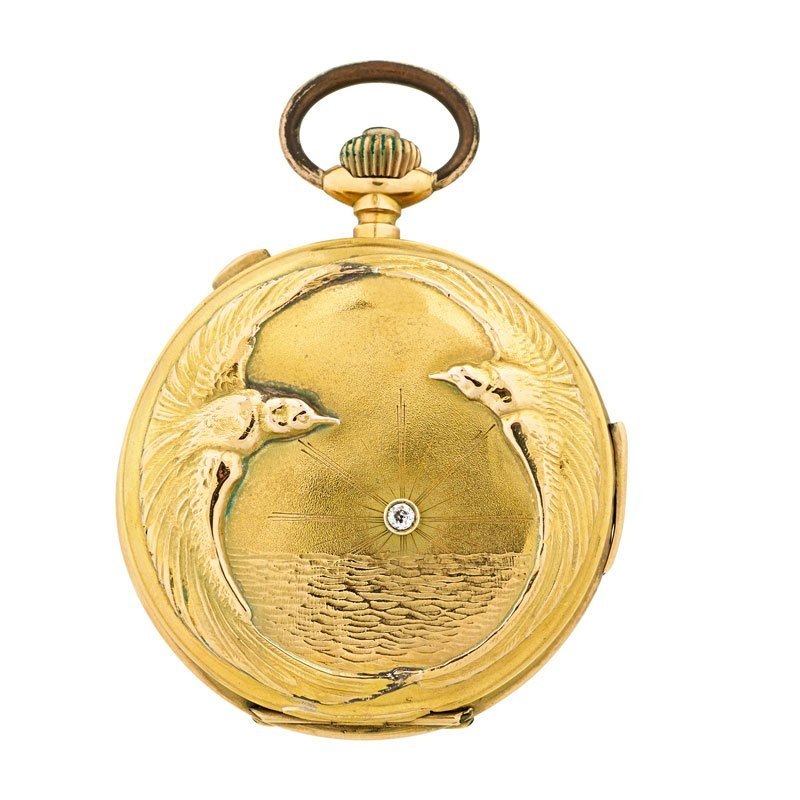 SWISS 18K GOLD MINUTE REPEATER POCKET WATCH