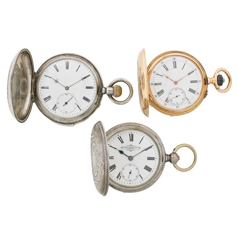 CHINESE OR RUSSIAN MARKET POCKET WATCHES, 19TH C. - 2