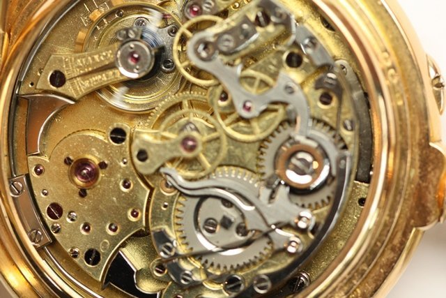 HIGHLY COMPLICATED SWISS GOLD REPEATER WATCH - 2