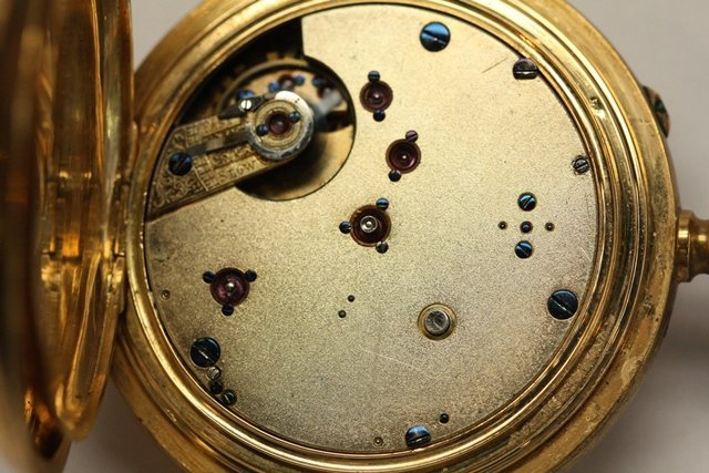 TWO CONTINENTAL GOLD POCKET WATCH REPEATERS - 4