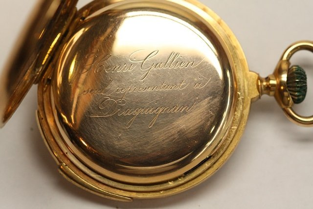 TWO CONTINENTAL GOLD POCKET WATCH REPEATERS - 8