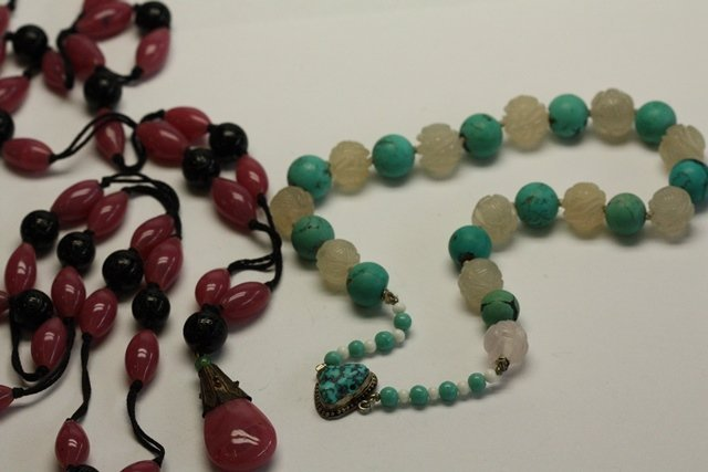 14 PIECES CHINESE, TIBETAN & OTHER JEWELRY - 10