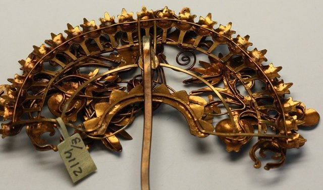 QING DYNASTY KINGFISHER FEATHER HAIR ORNAMENT - 9