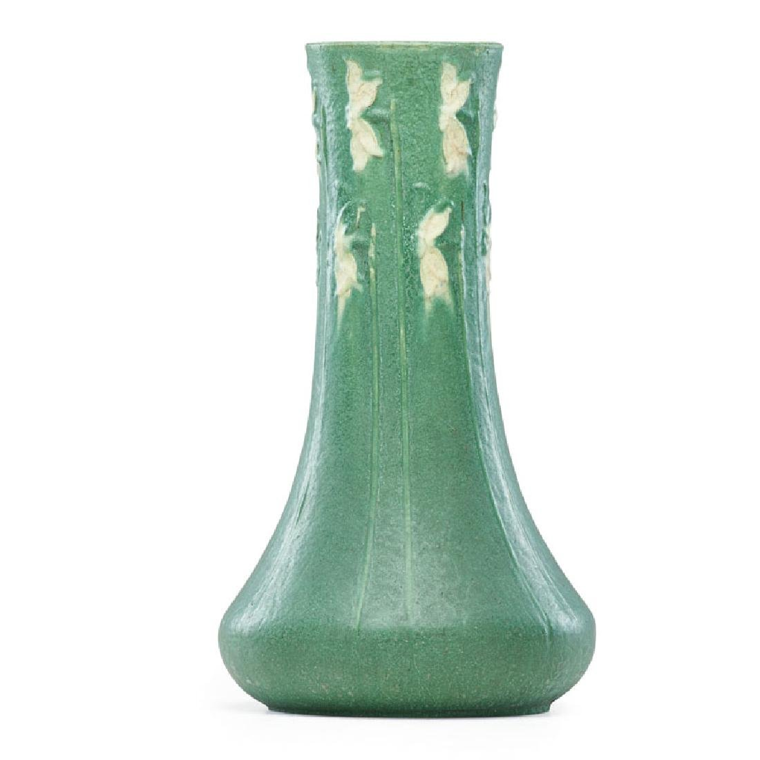 RUTH ERICKSON; GRUEBY Rare large two-color vase
