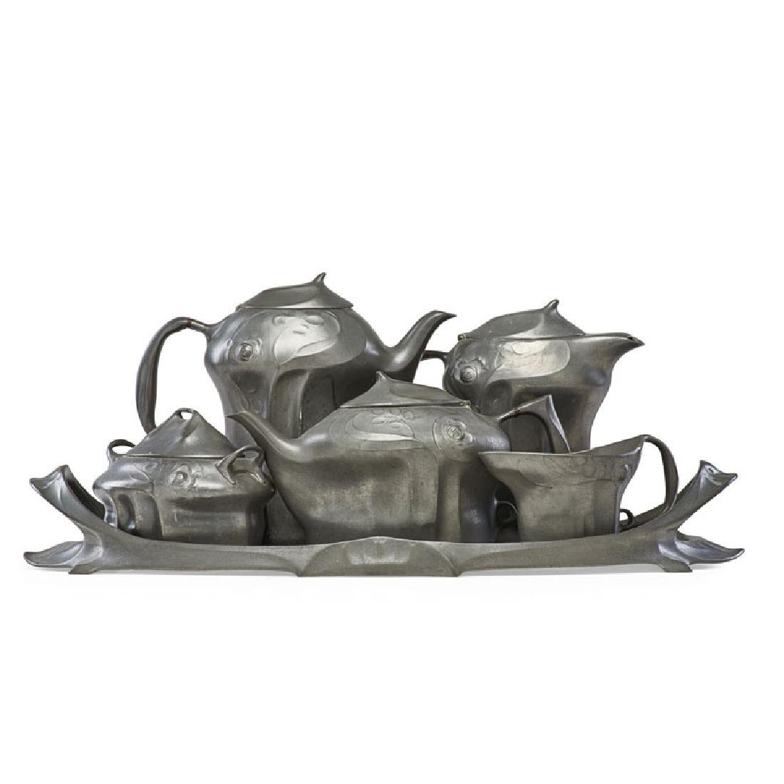 HUGO LEVEN Kayserzinn pewter coffee/tea set