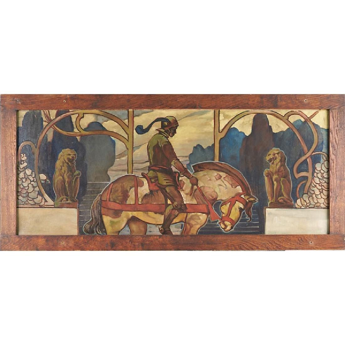 HARVEY ELLIS Large painting