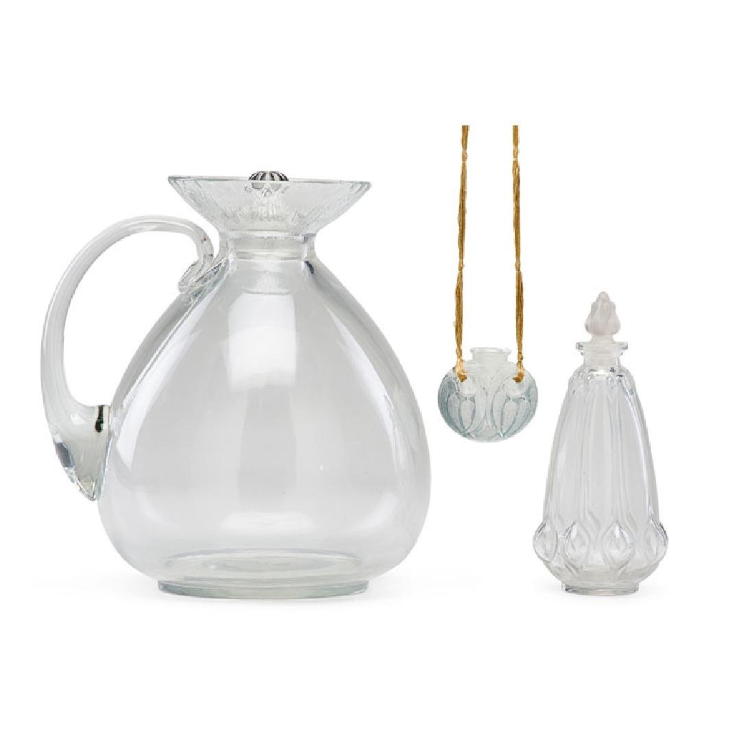 LALIQUE Perfume bottle, pendant, and decanter