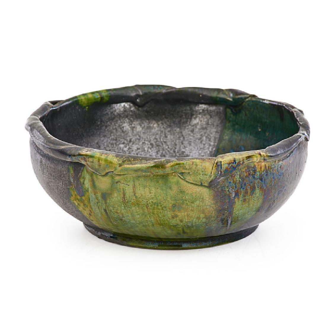 GEORGE OHR Large bowl, folded rim