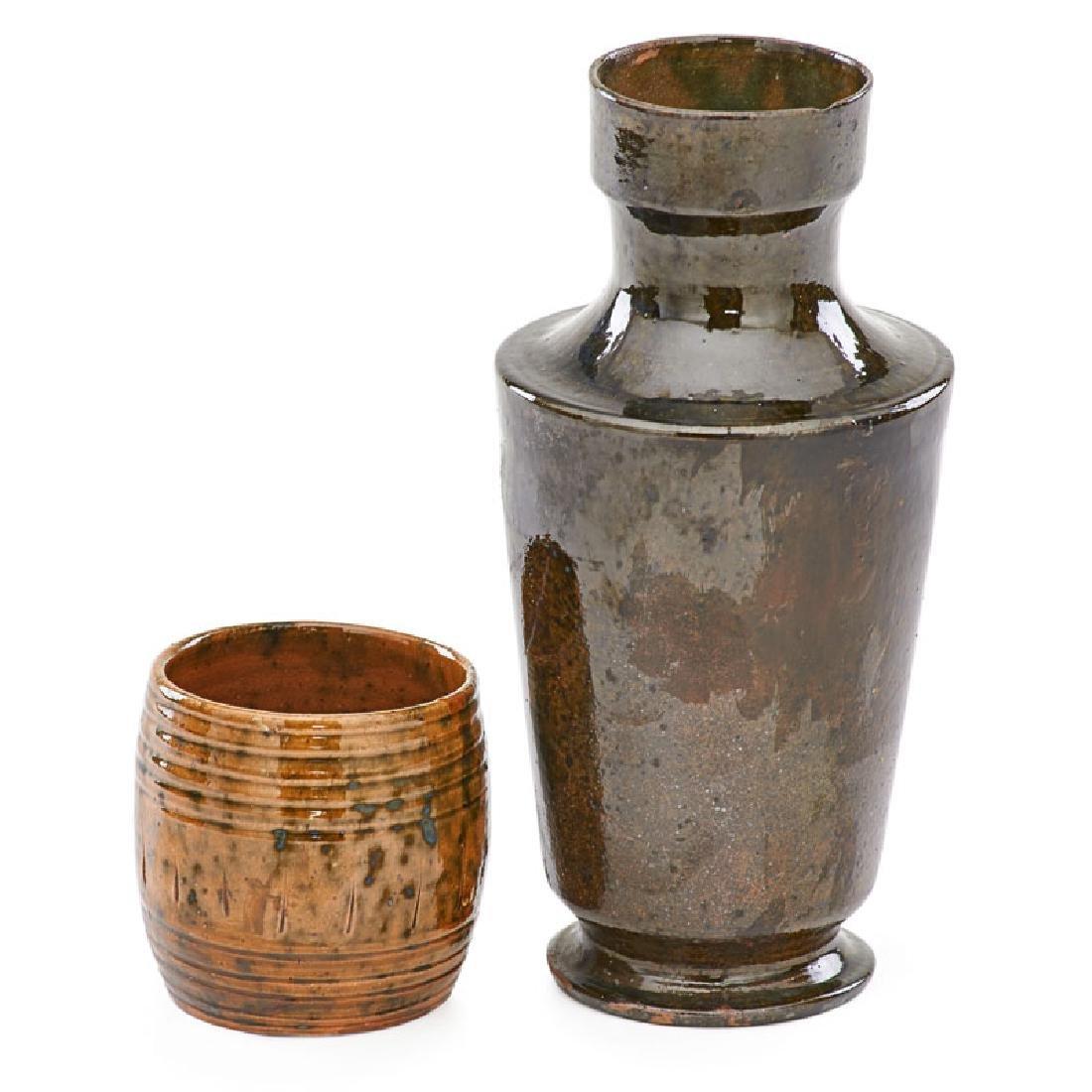 GEORGE OHR Novelty and vase