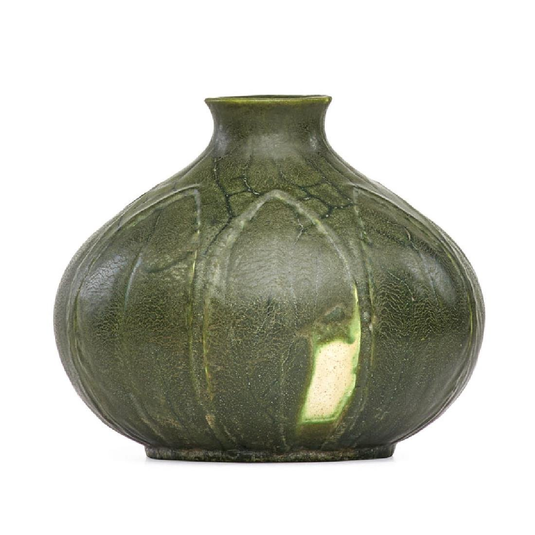 WILHELMINA POST; GRUEBY Vase with leaves