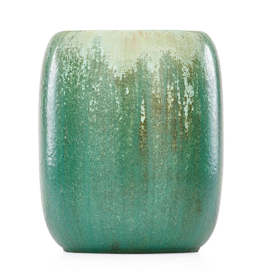 FULPER Large barrel-shaped vase
