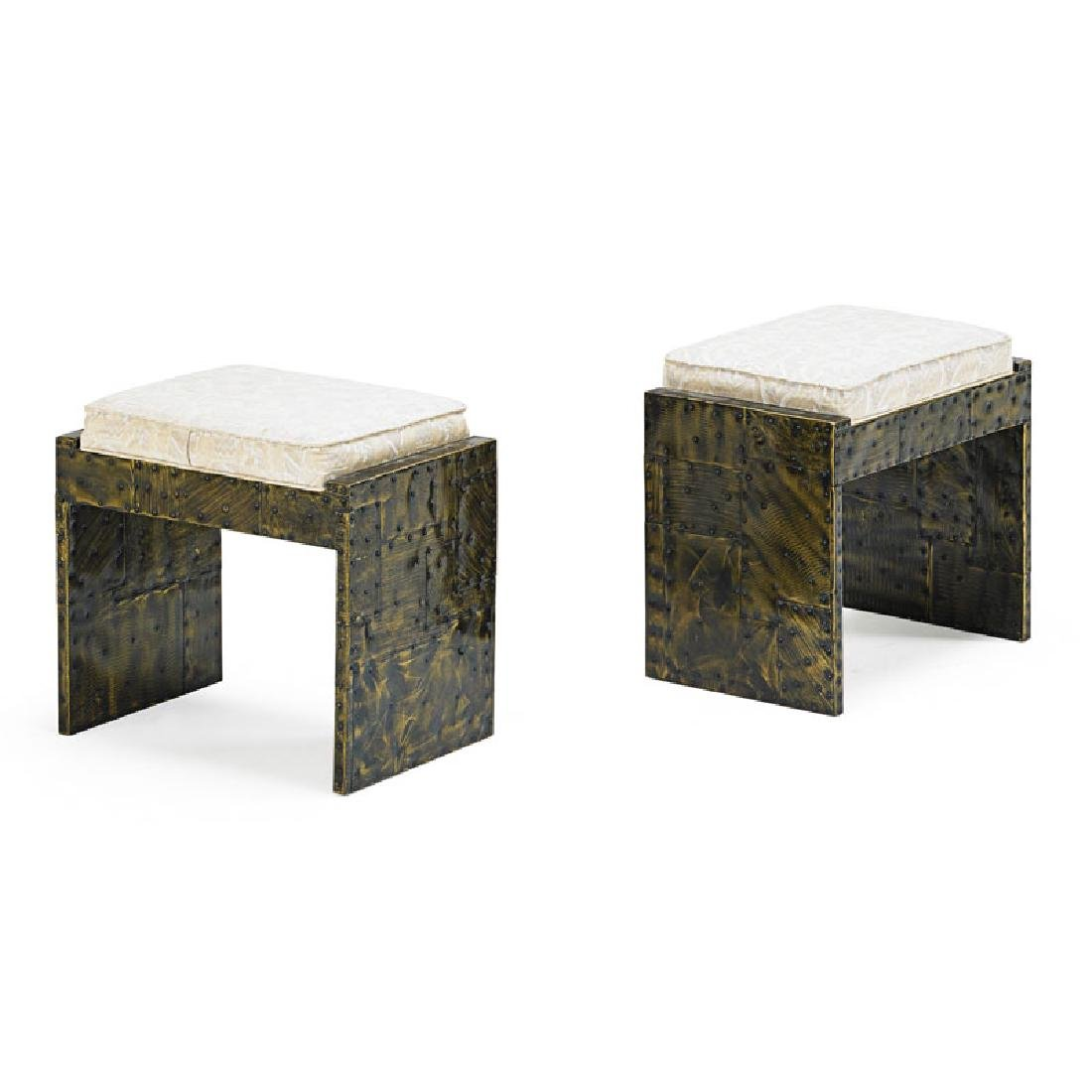 PAUL EVANS Pair of Patchwork benches