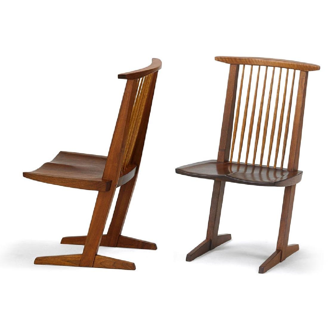 GEORGE NAKASHIMA Two Conoid chairs