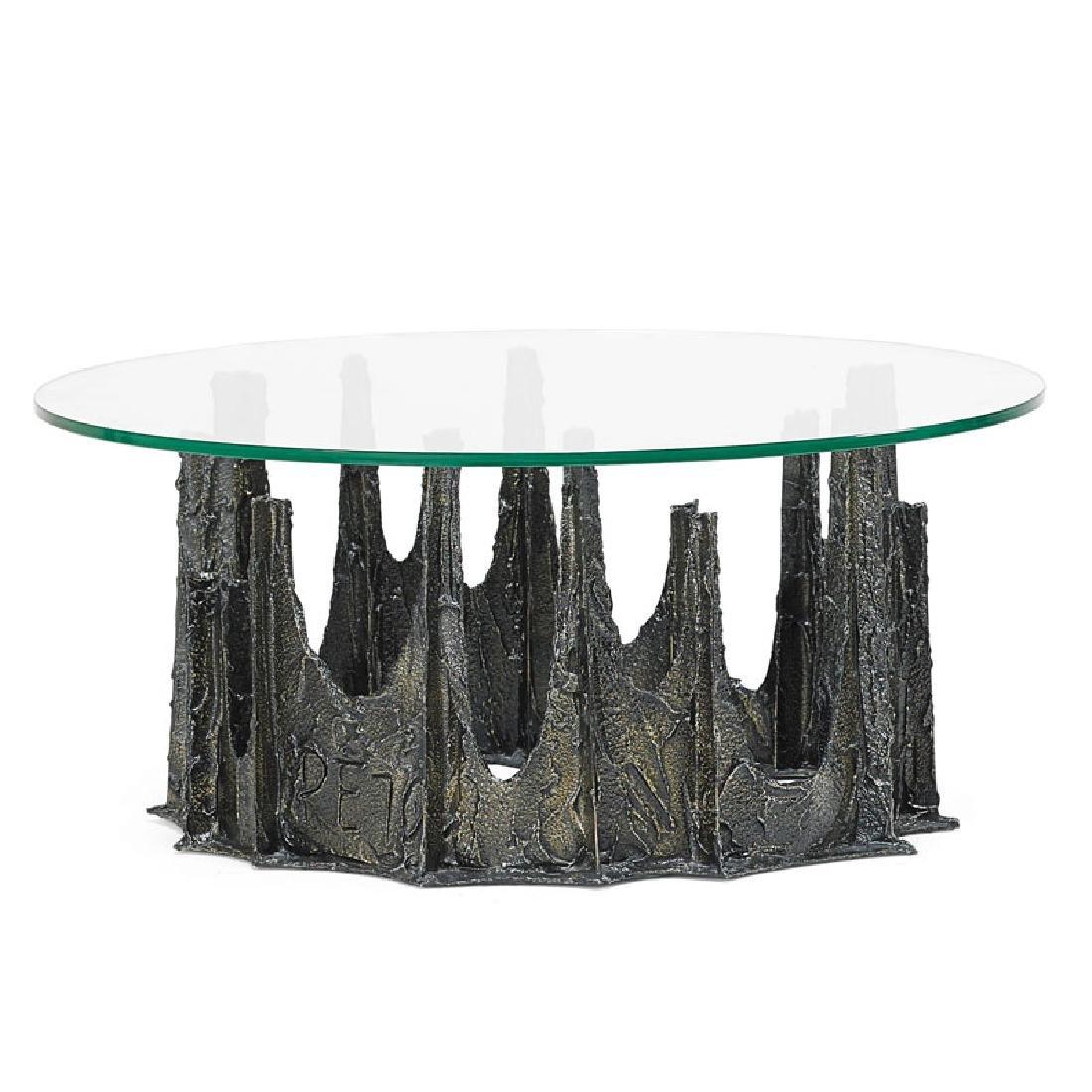 PAUL EVANS Sculptured Metal coffee table - 2