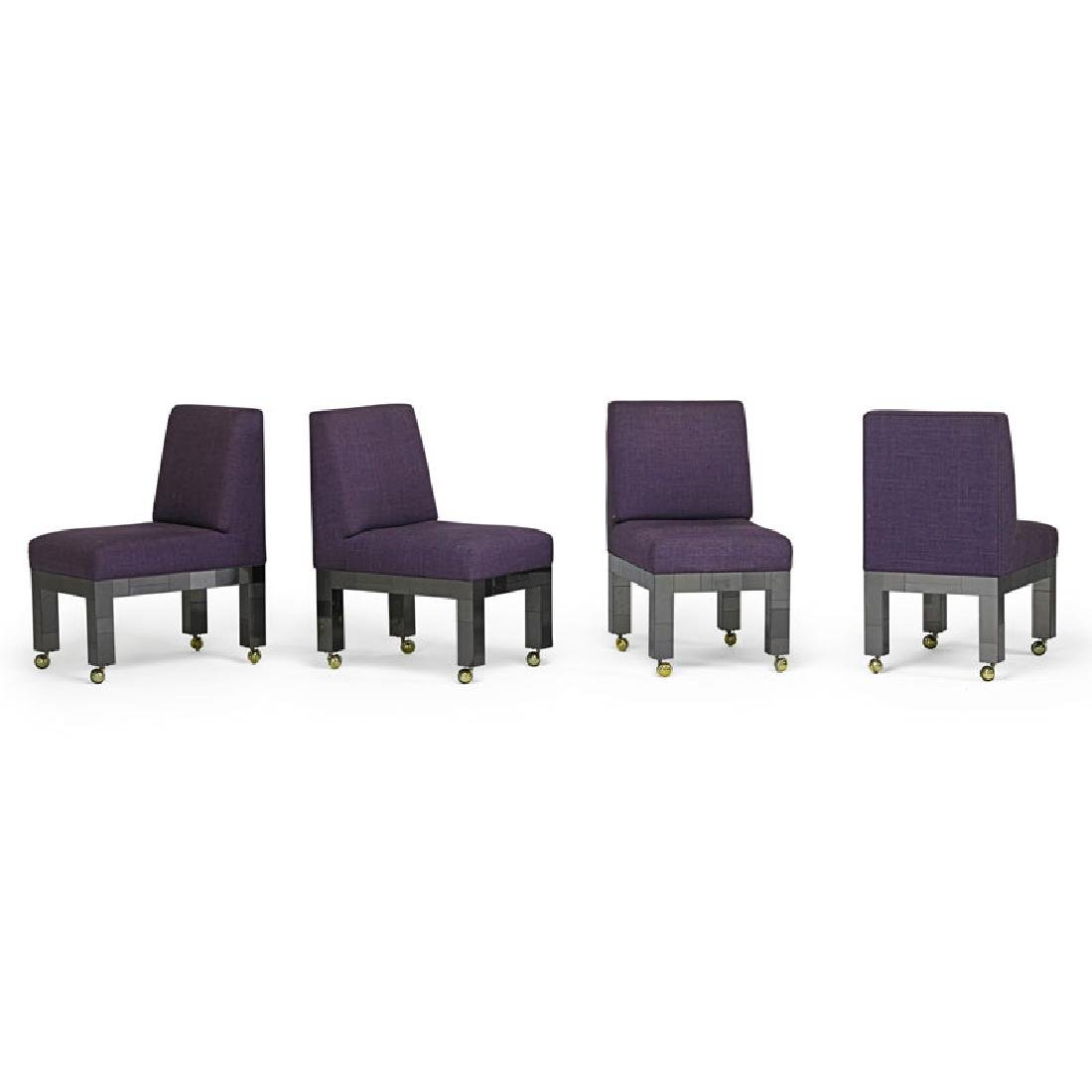 PAUL EVANS Four Cityscape dining chairs