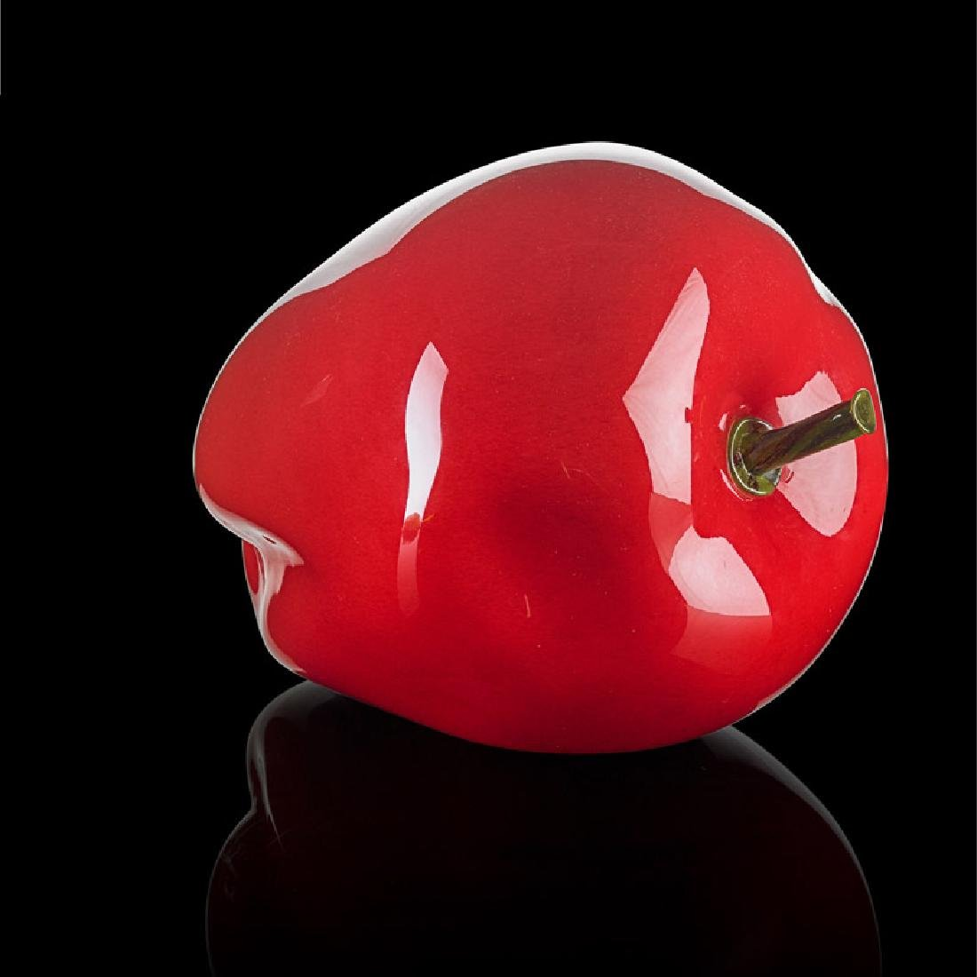 FLORA MACE; JOEY KIRKPATRICK Large glass apple