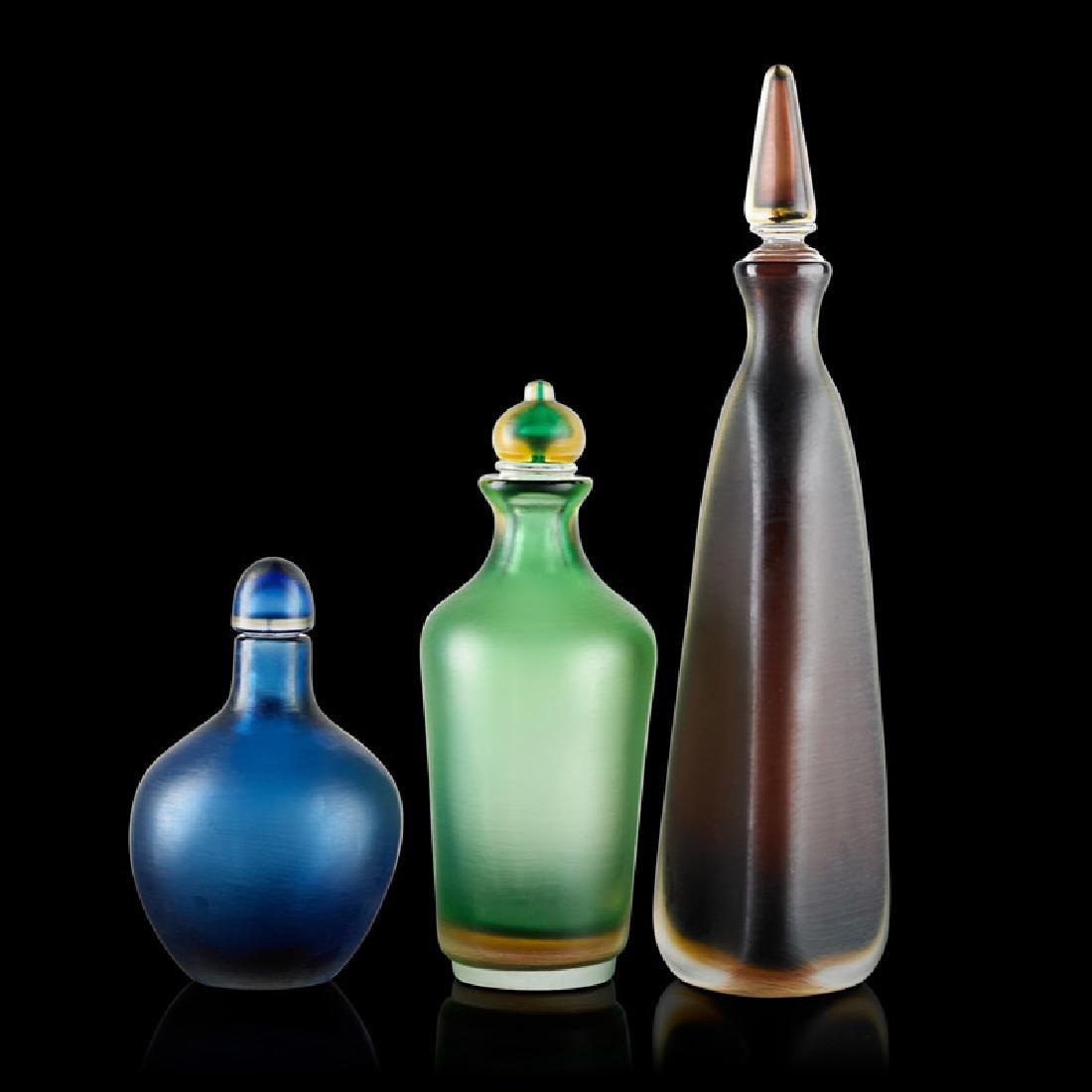 VENINI Three stoppered bottles