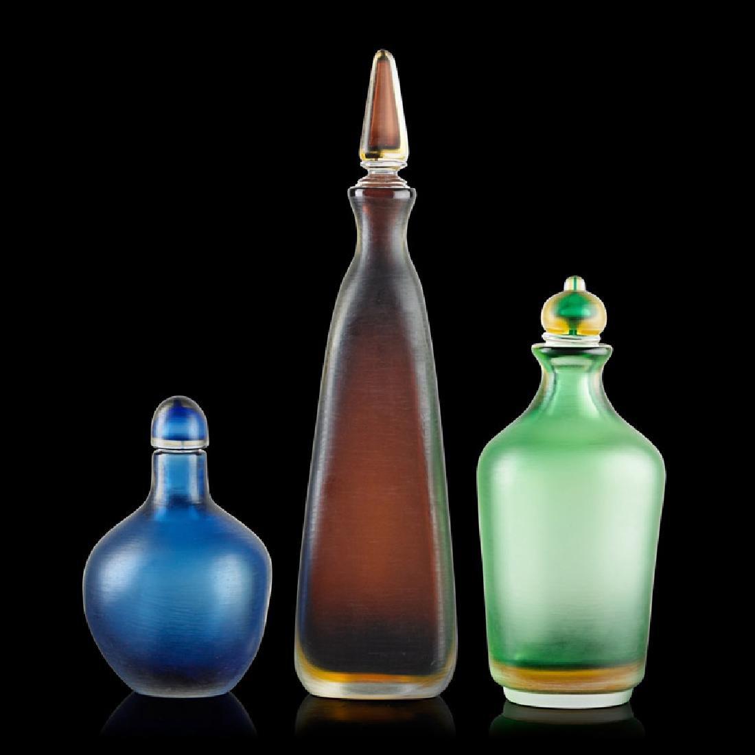 VENINI Three stoppered bottles - 2